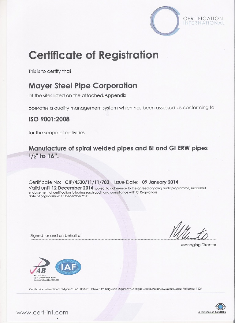 Mayer steel pipe corporation by administrator 03262014 1betcityfo Gallery